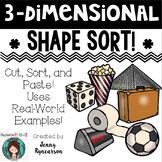 3D Shape Sort! Uses Real-World 3-Dimensional Shapes!