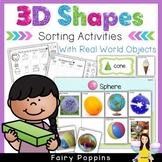 3D Shapes Sorting Mats & Activities (real photos of 3D objects)