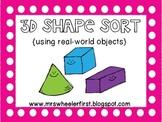 3D Shape Sort {real world objects}