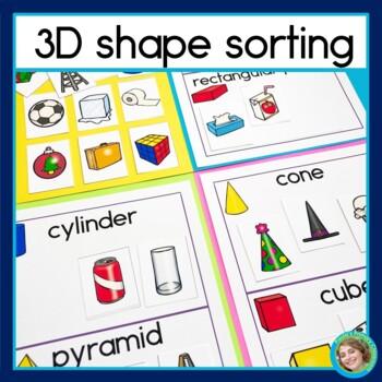3D Shape Sorting Math Center