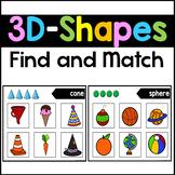 3D Shape Sorting Mats - 3D Shape Matching Activities