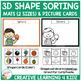 3D Shape Sorting Mats & Shape Cards