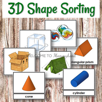 3D Shape Sorting and 3 Part Cards