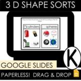 3D Shape Sorts:  Google Slides