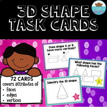 3D Shape Task Cards