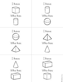 I Have, Who Has? 3D Shapes