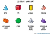 3D Shape Word Mat - Vocabulary and Visual Assistance