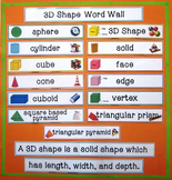 3D Shapes Word Wall - Illustrated