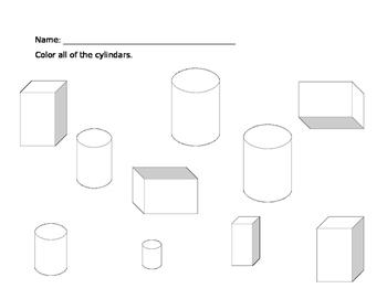 3D Shape Worksheet