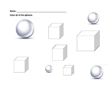 3D Shape Worksheet Review
