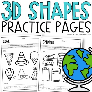 3D Shape Worksheets