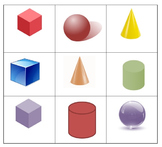 3D Shape and Color Bingo