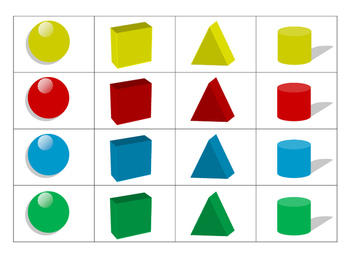3D Shape and Color Bingo Preview