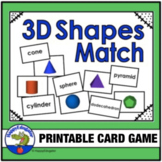 3D Shapes Memory Game, Puzzles, and Test