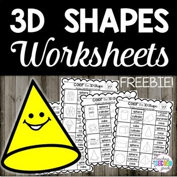 3D Shapes Worksheets Freebie