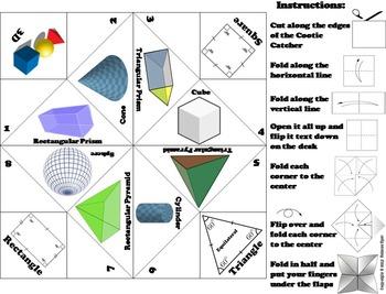 3D Shapes Activity Foldable