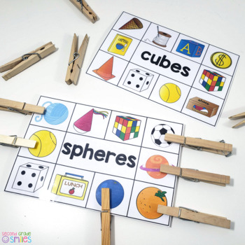 3D Shapes & Attributes (Hands-On Math Centers)