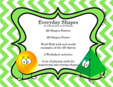 3D Shapes &  2D Shapes -  CCSS Aligned Kindergarten Math Center