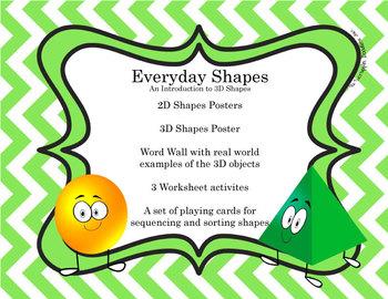 3D Shapes &  2D Shapes -  CCSS Aligned Kindergarten Math Center