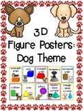 3D Shapes (3D Figure) Posters: Dog Theme