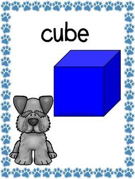 3D Shapes (3D Figure) Posters: Dog Theme