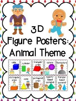 3D Shapes (3D Figure) Posters: Fairy Tale Theme