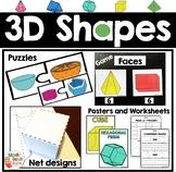 3D Shapes - Worksheets