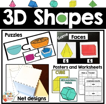 3D Shapes - Activities - Posters - Worksheets