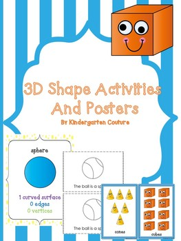 3D Shapes Activities and Posters