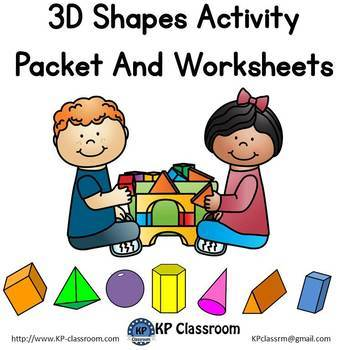 3D Shapes Activity Packet and Worksheets