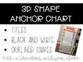 3D Shapes Anchor Chart