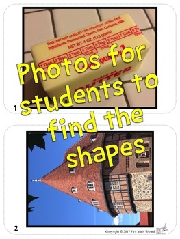 3D Shapes Around Us - Real Life Picture Cards of Shapes