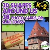 3D Shapes Around Us Real Life Picture Cards of Shapes