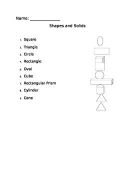 3D Shapes Assessment