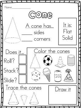 3d shapes attribute worksheets by surviving kindergarten tpt. Black Bedroom Furniture Sets. Home Design Ideas