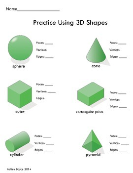 3D Shapes Attributes Formative