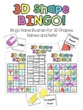 3D Shapes Bingo