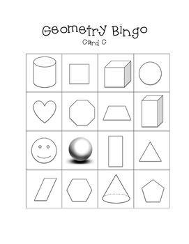 3D Shapes Bingo {20 Different BINGO Cards}