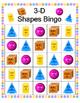 3-D Shapes Bingo - Kindergarten