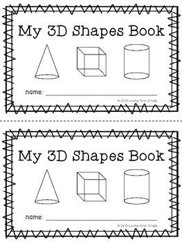 3d shapes book by loving first grade teachers pay teachers. Black Bedroom Furniture Sets. Home Design Ideas