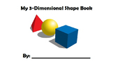 3D Shapes Book- ENGLISH ONLY