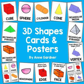 3D Shapes Book and Poster Set