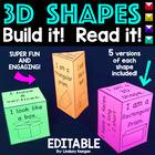 3D Shapes - Build the Shape, Read the Shape!
