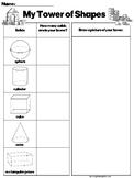3D Shapes Building Activity Sheet