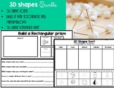 3D Shapes Building, Sorts and Hunt