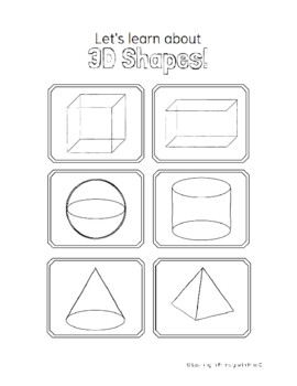 how to draw 3d shapes Colouring Pages | Geometric shapes drawing ... | 350x270