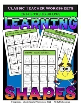 3D Shapes Bundle - Set 1 - 3rd-4th Grade (Grades 3-4)