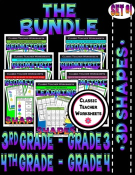 3D Shapes Bundle - Set 1 - 3rd-4th Grade (Grades 3-4)