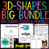 3D Shapes Bundle for PreK-2nd