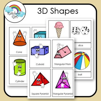 3D Shapes Cards